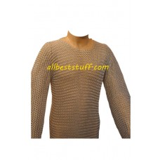 Butted Aluminium Chain Mail Long Sleeve Hauberk