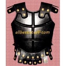 Medieval Breastplate Leather Armor Black