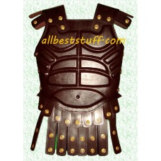 Medieval Breastplate Leather Armor Brown with Belt