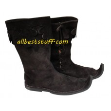 Medieval Rough Leather Pirate Boots Grayish Brown