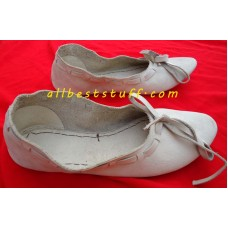 Medieval Leather Female Flats Natural Leather Women Medieval Flat Footwear