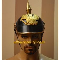 German Pickelhaube Leather Helmet