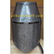 Medieval Great Helm, Knight Helmet, Raw Finish Great Helmet 16 Gauge