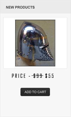 Heavy 14 Gauge Medieval Bascinet Helmet