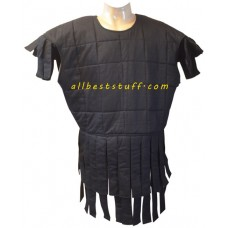 Sleeveless Cotton Gambeson Black