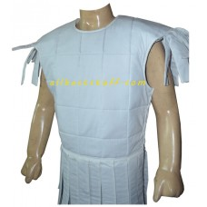 Sleeveless Cotton Gambeson Off White Color